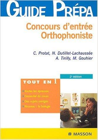 Concours d'entrée orthophoniste de Protat ,Dutillet-Lachausse ( 15 janvier 2004 )
