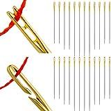 WILLBOND 24 Pezzi Aghi Autofilettanti Aghi Autofilettanti da Cucire Aghi per Cucire a Mano Laterali per Accessori per Aghi Mestiere Fatto a Mano Fai-da-Te