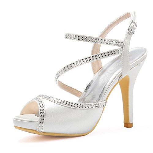 MaxMuxun Zapatos de Cuña Negro Cómodo Cotidiano con Diamante Brillante Decorado Para Mujer Tamaño 40 EU At2pn