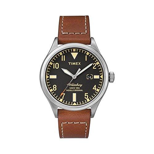 Timex tw2p84000–Montre Bracelet Homme, Cuir, Couleur: Noir