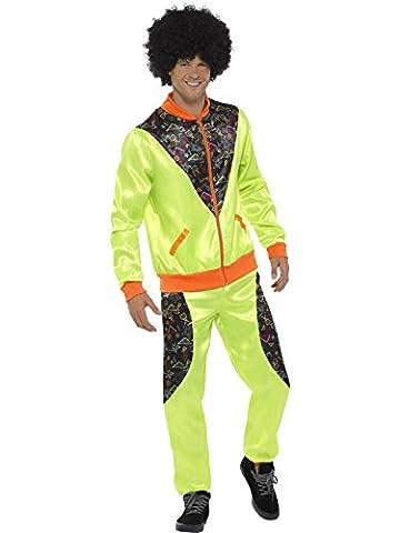 Smiffys, Herren Retro Shell Suit Kostüm, Jacke und Hose, Größe: L, 43081