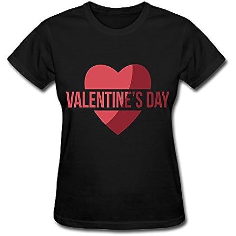 demango da donna Cuori San Valentino Maglietta Rosa