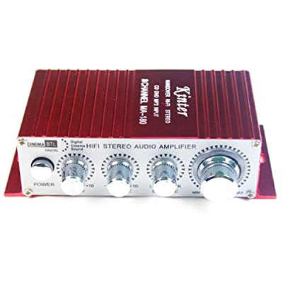 Kinter MA180 MA-180 12V MINI Power Amplifiers Car Computer Amplifier USB Port Ch