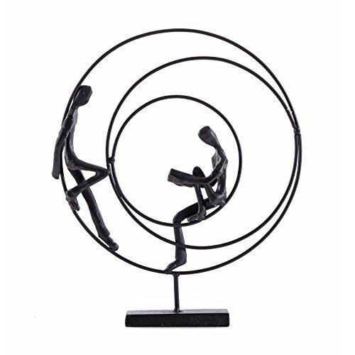 """DESIGN DEKO FIGUR \""""AUSZEIT\""""   23 cm, Gußeisen, brüniert   Deko Skulptur"""