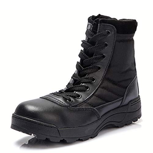Militär Armee Kampfstiefel Größe Walking Wandern Nicht Sicherheit Arbeit Atmungsaktive Stiefeletten Jungle Armed Forces Schuhe,Black,43 ()