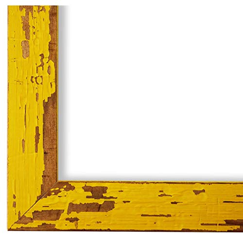 Online Galerie Bingold Bilderrahmen Gelb DINA4(21,0x29,7) - DIN A4 (21,0 x 29,7 cm) - Modern, Shabby, Vintage - Alle Größen - handgefertigt in Deutschland - WRF - Cremona 3,0 -