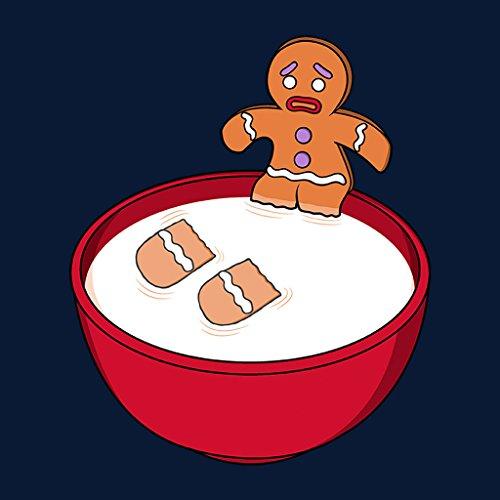 Shrek Gingerbread Man Milk Problems Womens Hooded Sweatshirt Navy blue