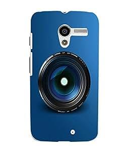 Fuson 3D Printed Lens Designer Back Case Cover for Motorola Moto X - D888
