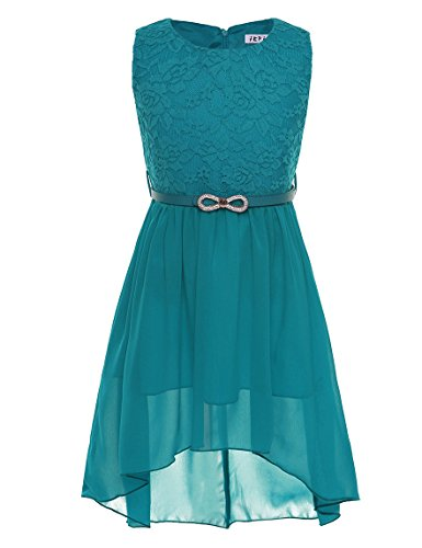 CHICTRY Ärmellos Prinzessin Kleid Mädchen Lace Chiffon Partykleid Festkleid Blumenmädchenkleid...