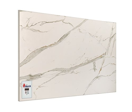 Infrarotheizung VESTA PRO 700 Digitalthermostat Weiß-marmor 700W