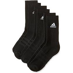 Adidas 3S PER CR HC 3P, Calcetines Unisex, Negro, 43-46 EU, Pack de 3