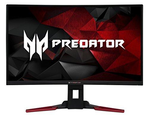 Acer Predator Z321QU 80 cm (31,5 Zoll WQHD) Curved Monitor (HDMI, USB 3.0, Displayport, 4ms Reaktionszeit, 144 Hz, EEK A, Höhenverstellbar, Schwenkbar, NVIDIA G-Sync) silber/schwarz