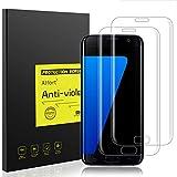 2 películas de protección de cristal templado de Alfort para Samsung Galaxy S7 Edge , grado de dureza 9H, insatillables, ultrafinas, 0,26 mm, cristalinas (99%), 5,5 pulgadas (14 cm), de alta gama