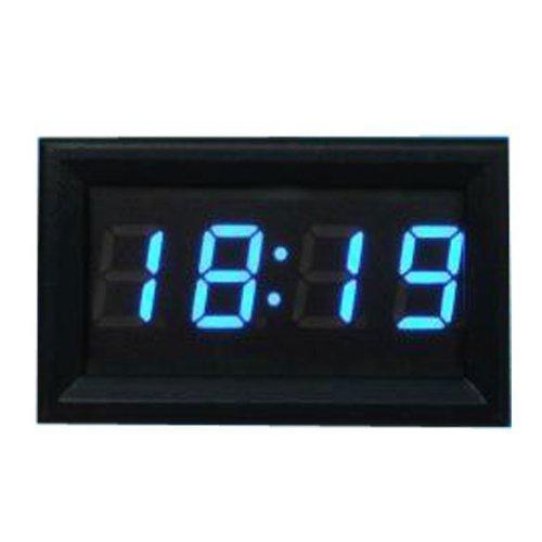 KeeKa Mini Blau LED Digital Electro Uhr Einbauuhr für Auto Kfz Motorrad PKW