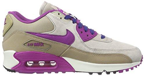 Nike WMNS AIR MAX 90 LTHR Damen Sneakers Dsrt Cm/Prpl Dsk-Strng-Dp Ryl