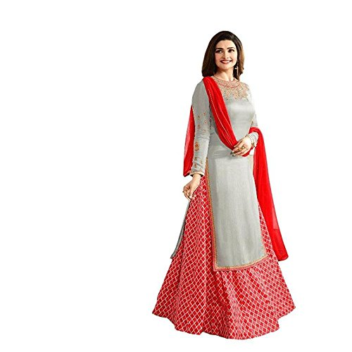 Aryan Fashion Women's Japan Crepe Anarkali Semi-Stitched Salwar Suit Dress Material (Aryan...