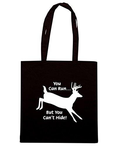 T-Shirtshock - Borsa Shopping FUN0944 cant hide hunting decal 78118 Nero