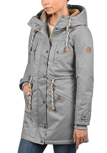 Blend SHE Dale Damen Winter Jacke Parka Mantel Winterjacke gefüttert mit Teddyfutter und Kapuze, Größe:S, Farbe:Castlerock (75003) - 2