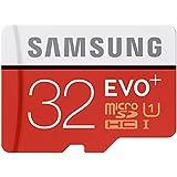 Samsung EVO Plus MicroSD Card 32GB MicroSDHC UHS-I Class 10 memoria flash - Tarjeta de memoria (MicroSDHC, UHS-I, Class 10, Negro, Rojo, Color blanco, FCC, CE, VCCI, NATA, -25 - 85 °C)