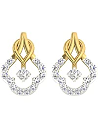 TBZ - The Original 18k (750) Yellow Gold and Diamond Stud Earrings