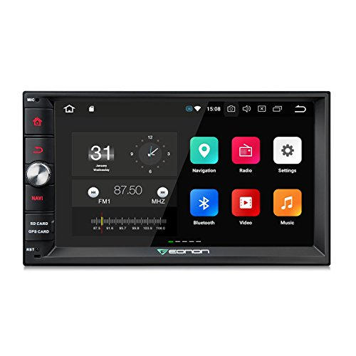 Eonon Android 8.0 Doppel Din Autoradio 2 Din mit GPS Navigation 4GB RAM 7 Zoll 18 cm Bildschirm Touchscreen Bluetooth Freisprechfunktion Stereo WiFi/WLAN DAB+ 3G 4G Fastboot USB - Android Screen Autoradio-touch