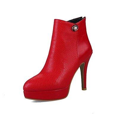 RTRY Scarpe donna Materiale personalizzato primavera cadono Comfort moda Stivali Stivali Stiletto Heel Punta Babbucce/Stivaletti Zip di strass US4-4.5 / EU34 / UK2-2.5 / CN33