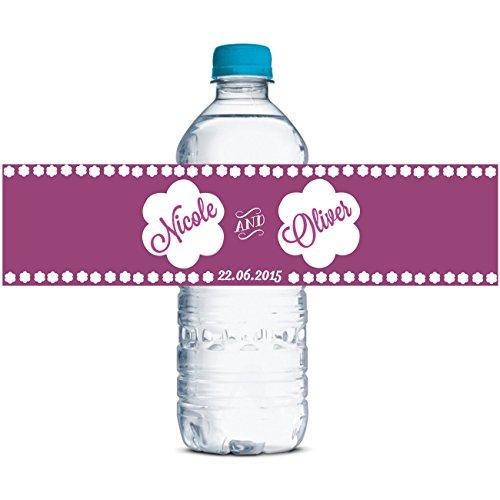 selbstklebende wasserdichte Aufkleber wedding Wasserflaschenaufkleber Thema-Partei 8