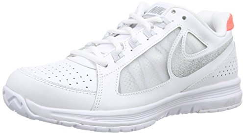 Nike Air Vapor Ace, Damen Tennisschuhe, Weiß (White/Metallic Silver/Pure Platinum/Hot Lava), 39 EU