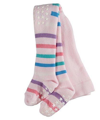 FALKE Babys Strumpfhosen Multi Stripe - 1 Paar, Gr. 62-68, rosa, Baumwolle verstärkt, rutschfest ABS Noppen, Jungen Mädchen