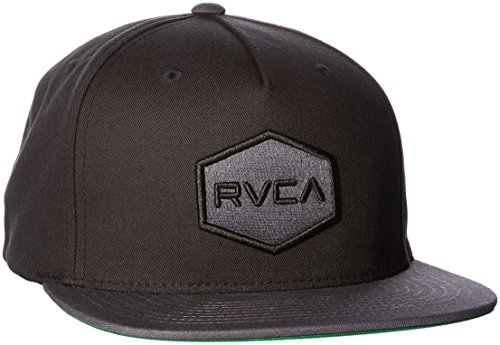 rvca-commonwealth-snapback-hat-pour-hommes-o-s-black-grey