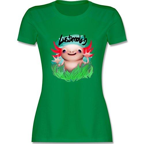 Sonstige Tiere - Lustmolch - Axolotl - tailliertes Premium T-Shirt mit Rundhalsausschnitt für Damen Grün