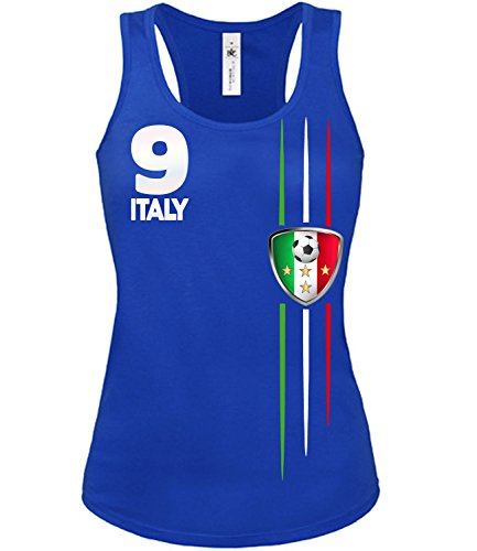 ITALIEN FANSHIRT 3209 Damen Tank Top (TT-F-B) Gr. XL (Champion Tank Top Damen)