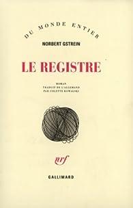 Le Registre par Norbert Gstrein