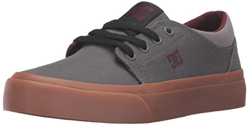 DC Shoes Trase Tx, Baskets mode garçon Grey/Grey/Red