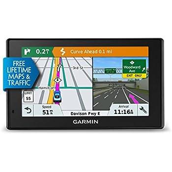 Garmin DriveSmart 51 LMT-S - GPS Auto - 5 pouces - Cartes Europe 46 pays - Cartes, Trafic, Zones de danger à vie - Wi-Fi intégré - Appels mains libres