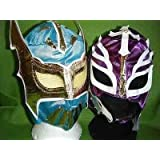 máscara de luchaS azul SIN CARA LILA REY MYSTERIO disfraz disfraz mask mexicano infantil infantil nuevo serie traje lucha dore lucha libre