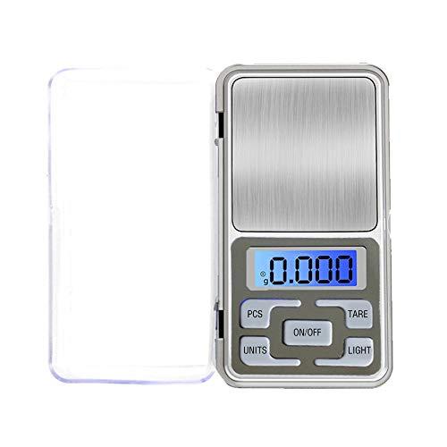 baf1e809e247 OurLeeme Digital Pocket Scale 0.01-500g Mini Scales Escala digital portátil  con retroiluminación LED para alimentos de cocina, joyería, café