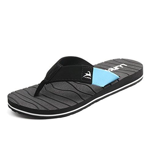 ALUK- Sandales d'été - Décontracté Antidérapant Hommes confortables Chaussons résistant à l'usure Chaussures de plage ( Couleur : Noir , taille : 42 ) Noir