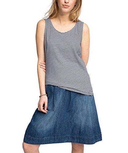 edc by Esprit 056cc1k019 - Top Back Details - T-shirt - Femme Blanc (WHITE 100)