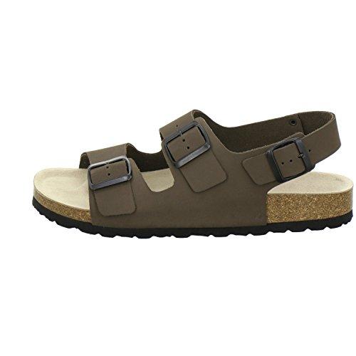 AFS-Schuhe 310578, Sandale Herren, hochwertiges, echtes Leder, Made in Germany Asphalt