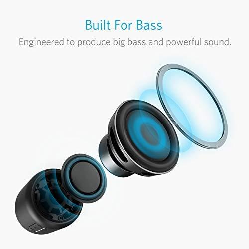 Anker SoundCore Mini Super Mobiler Bluetooth Lautsprecher Speaker mit 15 Stunden Spielzeit, 20 Meter Bluetooth Reichweite, FM Radio und Starken Bass (Schwarz) - 2