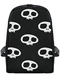 FANTAZIO Mochila de Viaje Delgada con Esqueleto Negro y Blanco para niños