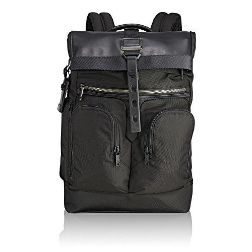 "Tumi Alpha Bravo - London Roll-Top Backpack 15"" Mochila tipo casual, 48 cm, 24.1 liters, Negro (Black)"