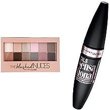 Maybelline New York Kit Regard Palette Maquillage Blushed Nudes + Mascara Voluptuous