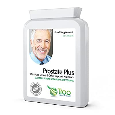 Prostate Plus 60 Capsules - Prostate Health Support Supplement with Saw Palmetto, Mixed Plant Sterols (Phytosterols) and Selenium from Troo Health Care