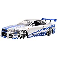 Jazwares Metals Diecast, Nissan Skyline GT-R, Fast and Furious, Brian o 'Conner' s, Escala 1: 24