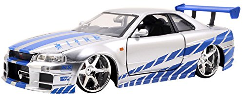 fast and furious modellautos Jazwares - 97158 - Metals Diecast - Fast and Furious, Brian O'Conner's Nissan Skyline GT-R, Maßstab 1:24
