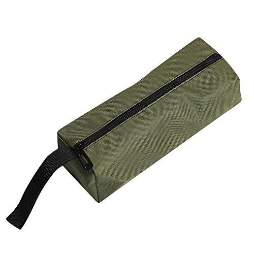 TDFGCR Reißverschluss Werkzeugtasche Beutel Organisieren Lagerung Kleinteile Handwerkzeug Klempner Elektriker-Armeegrün