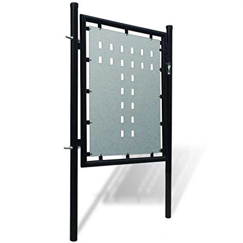 Tidyard Cancelletto per Recinzione, Cancelletto Giardino Cancello cancelletto per Recinzione Singolo 100 x 150 cm [Nero]