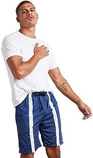 Striped Panel Detail Regular Fit Shorts 50354322 For Men SunBurn by Styli